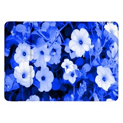 Blue Flowers Samsung Galaxy Tab 8 9  P7300 Flip Case