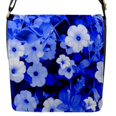 Blue Flowers Flap Closure Messenger Bag (Small)