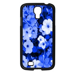 Blue Flowers Samsung Galaxy S4 I9500/ I9505 Case (Black)