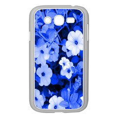 Blue Flowers Samsung Galaxy Grand Duos I9082 Case (white)