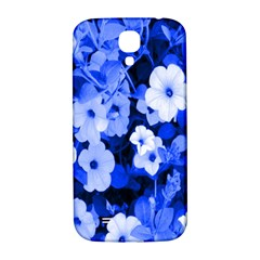 Blue Flowers Samsung Galaxy S4 I9500/I9505  Hardshell Back Case