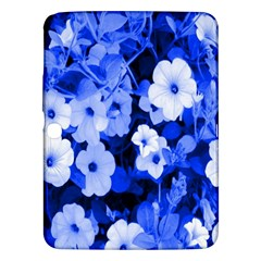 Blue Flowers Samsung Galaxy Tab 3 (10.1 ) P5200 Hardshell Case