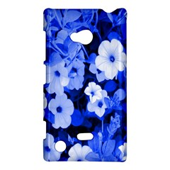 Blue Flowers Nokia Lumia 720 Hardshell Case