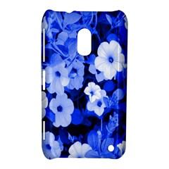 Blue Flowers Nokia Lumia 620 Hardshell Case