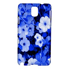 Blue Flowers Samsung Galaxy Note 3 N9005 Hardshell Case