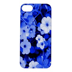 Blue Flowers Apple iPhone 5S Hardshell Case