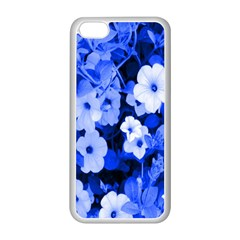 Blue Flowers Apple Iphone 5c Seamless Case (white)