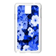 Blue Flowers Samsung Galaxy Note 3 N9005 Case (White)