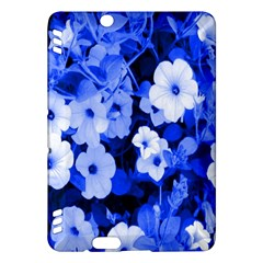 Blue Flowers Kindle Fire HDX 7  Hardshell Case