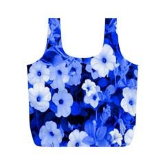Blue Flowers Reusable Bag (m)