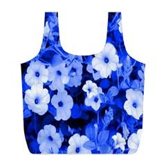 Blue Flowers Reusable Bag (L)