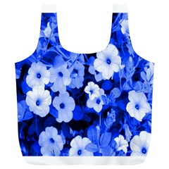 Blue Flowers Reusable Bag (XL)
