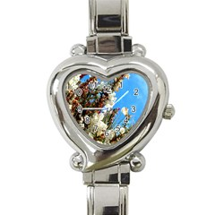Australia Flowers Heart Italian Charm Watch