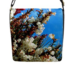 Australia Flowers Flap Closure Messenger Bag (Large)