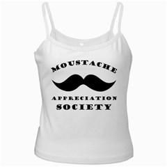 Moustache Appreciation Society White Spaghetti Top