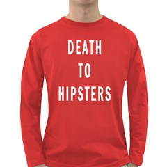 Death to Hipsters Men s Long Sleeve T-shirt (Dark Colored)