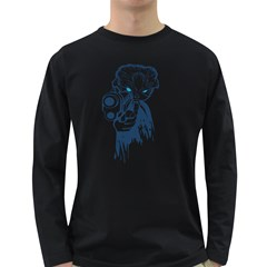 cat Men s Long Sleeve T-shirt (Dark Colored)