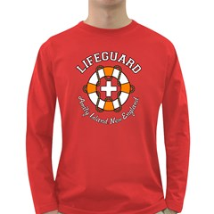 Lifeguard Amity Island Men s Long Sleeve T-shirt (Dark Colored)