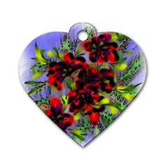 Dottyre Dog Tag Heart (Two Sided)