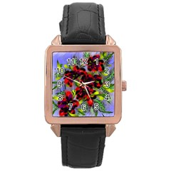 Dottyre Rose Gold Leather Watch