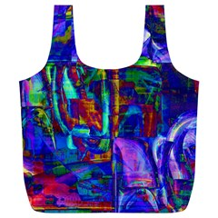Neon Purple Blue Pink Full Print Recycle Bag (XL)