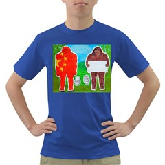 2 Yeh Ren,text & Flag In Forest  Men s T-shirt (Colored)
