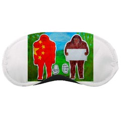 2 Yeh Ren,text & Flag In Forest  Sleeping Mask