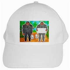 2 Yowie A,text & Furry In Outback, White Baseball Cap