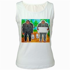 2 Yowie A,text & Furry In Outback, Women s Tank Top (White)