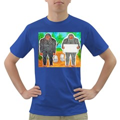 2 Yowie A,text & Furry In Outback, Men s T-shirt (Colored)