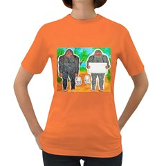 2 Yowie A,text & Furry In Outback, Women s T-shirt (Colored)