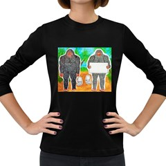 2 Yowie A,text & Furry In Outback, Women s Long Sleeve T-shirt (Dark Colored)