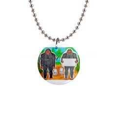 2 Yowie A,text & Furry In Outback, Button Necklace