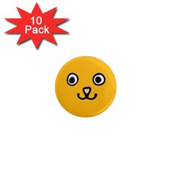 Cat Face 1  Mini Button Magnet (10 pack)
