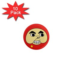 Chinese Chang Button 1  Mini Button Magnet (10 Pack)