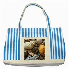 Beach Treasures Blue Striped Tote Bag