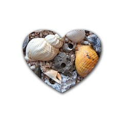 Beach Treasures Drink Coasters (heart)