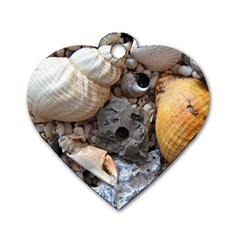 Beach Treasures Dog Tag Heart (One Sided)