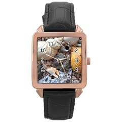 Beach Treasures Rose Gold Leather Watch