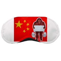 Yeh Ren Text On Chinese Flag  Sleeping Mask