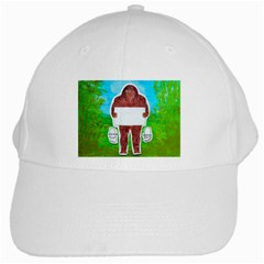 Yeh Ren Text,in Forest  White Baseball Cap