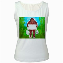 Yeh Ren Text,in Forest  Women s Tank Top (White)