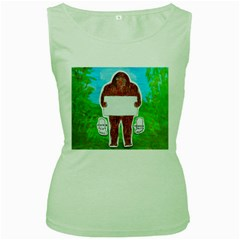 Yeh Ren Text,in Forest  Women s Tank Top (green)
