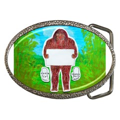 Yeh Ren Text,in Forest  Belt Buckle (oval)