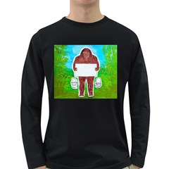 Yeh Ren Text,in Forest  Men s Long Sleeve T-shirt (Dark Colored)