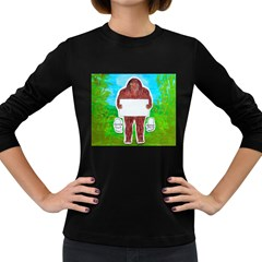 Yeh Ren Text,in Forest  Women s Long Sleeve T Shirt (dark Colored)