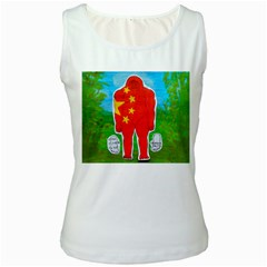 Flag Yeh Ren In Forest  Women s Tank Top (White)