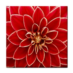 Red Dahila Ceramic Tile