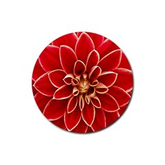 Red Dahila Drink Coaster (Round)