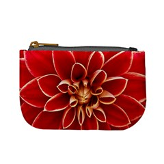 Red Dahila Coin Change Purse